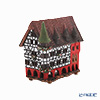 Nordic Lithuanian Pottery Miden MIDENE Candle House Miniature House with Incense City Hall of Fulda, Germany With LED Candle A210N