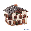 Nordic Lithuanian Pottery Miden MIDENE Aroma/Candle House Miniature House With Chimney & Incense Stand Germany Garmisch-Partenkirchen With LED Candle B265AR
