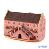 Midene Art Studio 'City Hall of Mulhouse - France' C395AR House with Aroma Lamp Function / Incense Burner with LED candle H13cm