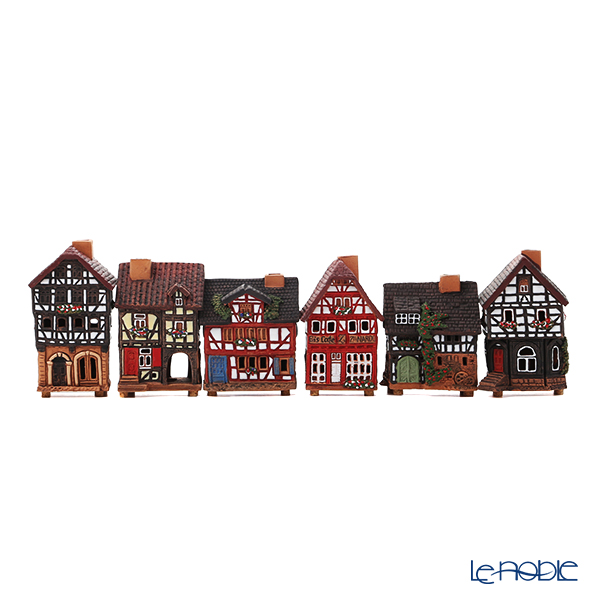 Midene Art Studio 'Historic Housescape in Lauterbach, Germany' House / Incense Burner with LED candle (set of 6 shape)