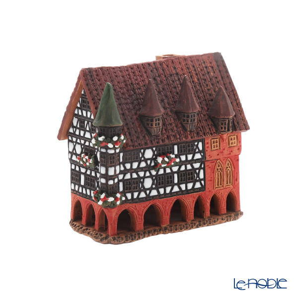 Midene Art Studio 'City Hall in Fulda - Germany' R321BS  House with Aroma Lamp Function / Incense Burner H11cm