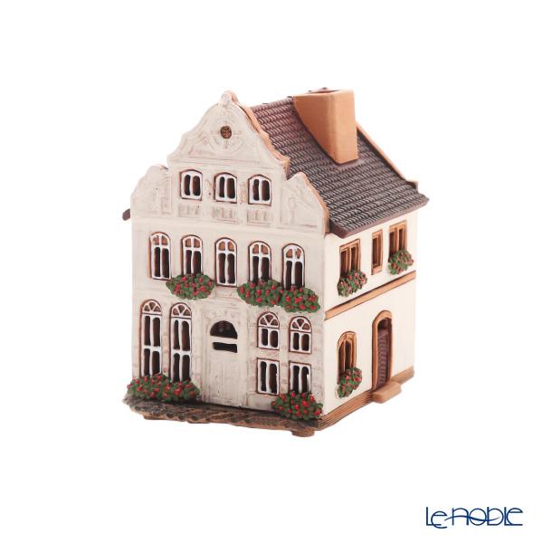 北欧リトアニア製陶器 ミデン MIDENE アロマ/キャンドルハウス ミニチュアハウス 煙突&香台付 ドイツ リューベック ブッデンブロークハウス LEDキャンドル付 A255AR