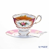 Courtier 'Afternoon Tea (Cup) / Rose' Pink & Blue COEC3202 Note Card with Envelope 16x11.5cm