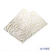 レースプレイス matte rectangle 45 x 30 cm White Rose & silver NSS 133S2 sheets