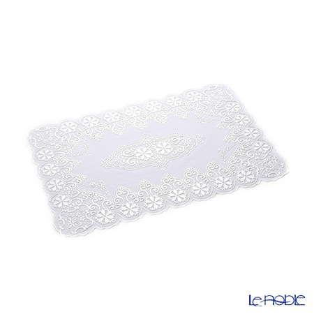 Pee tracing wind place mat 30 x 45 cm Silver NSS102-2 two pieces
