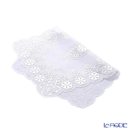 Crochet 'Lace' Silver White NSS102-2 Place Mat 45x30cm (set of 2)