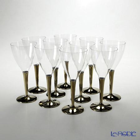 モザイク MZGLGOワイングラス ゴールドステム 10ピースセット
