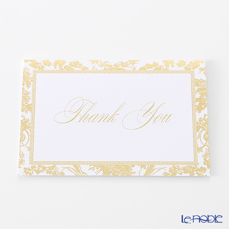 Caspari 'Thank You / Gold Frame' TTB3960 Note Card with Envelope 9x6cm (S)