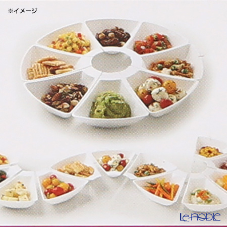 Classic collection mosaic MZADSW6 Appetize dish set 6 pieces white