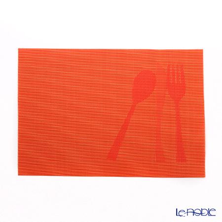 シェーンプラス ランチョンマット 43×30cm ZEK2314 カトラリーオレンジ