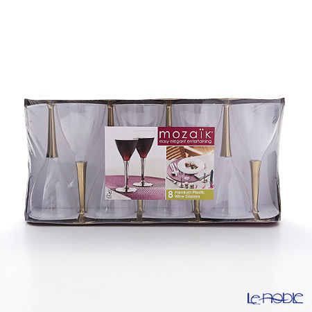 Mosaic MZGL8GO Wine glasses gold stems-set of 8