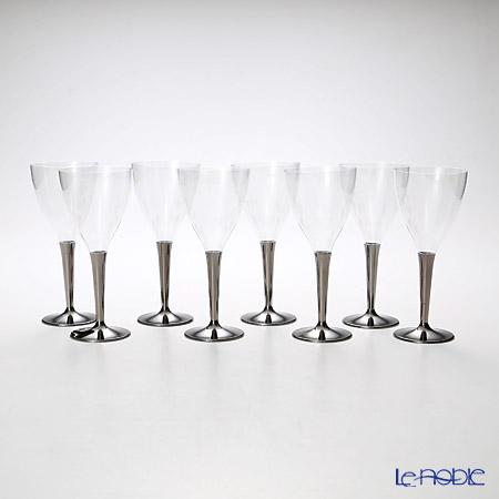 モザイク MZGL8SL ワイングラス シルバーステム 8ピースセット
