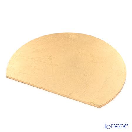 MDプレースマット リバーシブル C1606A24 ブラック/ゴールド 30×24cm