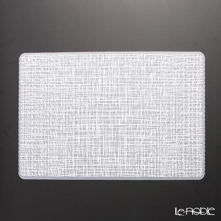 シェーンプラス シリコン プレースマット 43.5×28.5cm ウィーブホワイト ZPT24726W