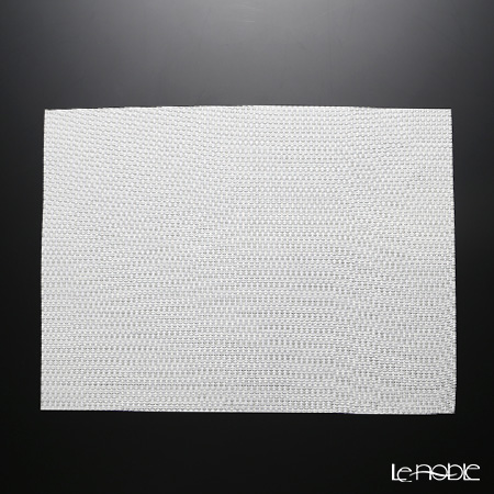 シェーンプラス ウィーブプリント プレースマット 43×30cm ホワイト ZPT50525B