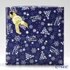 Wrapping Paper with Ribbon Christmas Blue