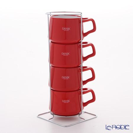 DANSK ダンスク コベンスタイル 848423 コーヒーカップ 4pc チリレッド ストーンウェア