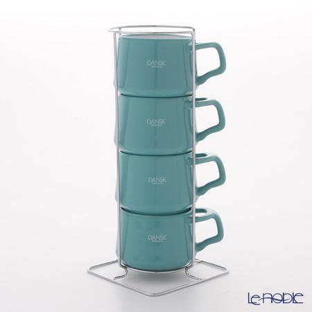 DANSK ダンスク コベンスタイル 848425コーヒーカップ 4pc ティール ストーンウェア
