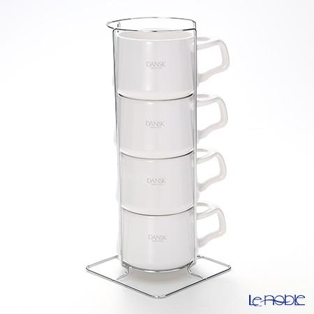 DANSK ダンスク コベンスタイル コーヒーカップ 4pc ホワイト ストーンウェア
