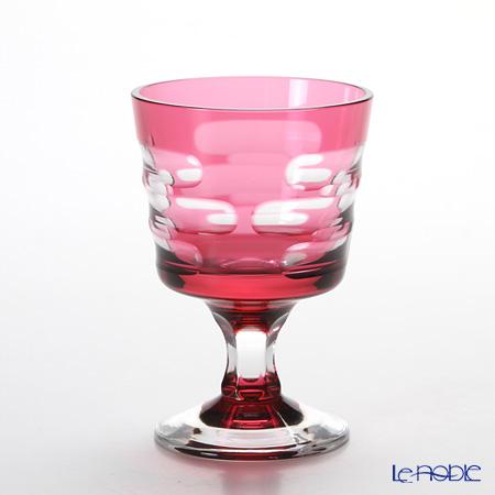 八千代切子 LS29801SAU-C592 冷酒盃 春霞(はるがすみ) 金赤 97ml 【木箱入】