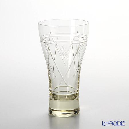 Toyo Sasaki Glass 'Mugi Syu' Light Amber Beer Tumbler 290ml (with wooden box) 18906DGY-C585 东洋佐佐木玻璃 '麦酒玻璃器具' 啤酒杯 【带木盒】