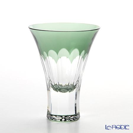 八千代切子 万華鏡 LS19752SCG-C617 杯 菊柄 100ml 【木箱入】