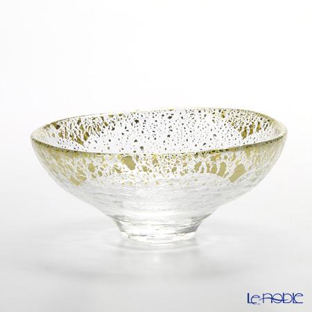 Toyo Sasaki Glass 'Kin Paku' Clear & Gold foil Bowl 14cm