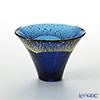 Toyo Sasaki Glass 'Sho Fuku Hai (Mt. Fuji)' Dark Blue & Gold foil Sake Cup 65ml (with gift box) 42085G-SHB 东洋佐佐木玻璃 '招福杯 富士山' 金·藏青色 冷酒 【带盒子】