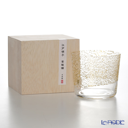 Toyo-Sasaki Glass Co. Edo glass gold glass 10895 Free glass small (sky) 300 ml