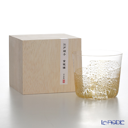 Toyo-Sasaki Glass Co. Edo glass gold glass 10896 Free glass small (Earth) 300 ml
