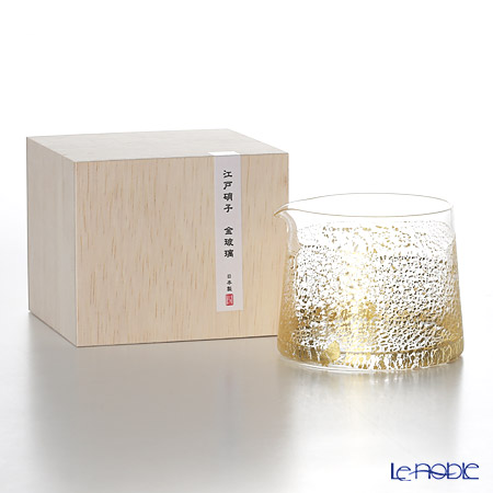 Toyo-Sasaki Glass Co. Edo Glass Golden-Leaf Glass One Side Glass 340 ml, earth 62630
