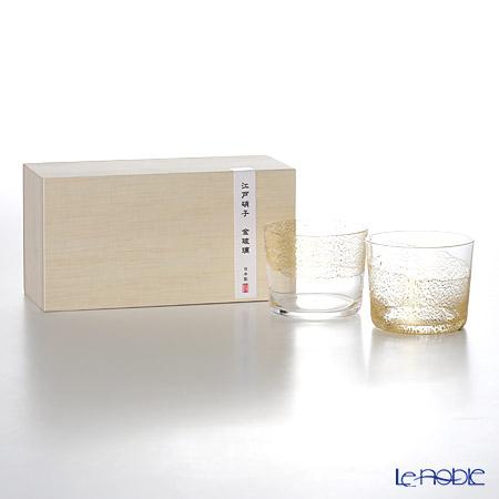 東洋佐々木ガラス 江戸硝子 金玻璃 G641-T78 冷酒杯純米揃え 120ml ×2 天空/大地