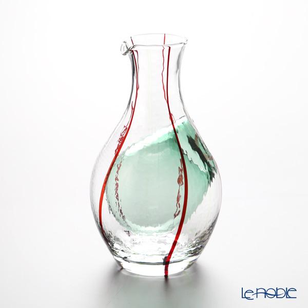 東洋佐々木ガラス 和がらす 冷酒カラフェ 300ml グリーン 61509