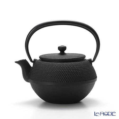 Oigen, Nambu Tetsubin (Nambu Iron Teapot) Maromi shape small, ARARE (Hailstone pattern) enamel coated inside teapot 0.35L