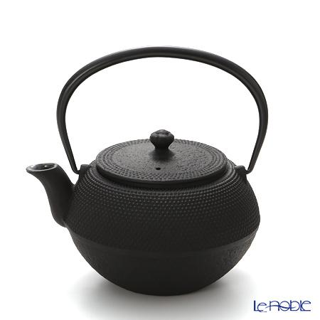 Oigen, Nambu Tetsubin (Nambu Iron Teapot) Maromi shape, ARARE (Hailstone pattern) enamel coated inside teapot 0.65L