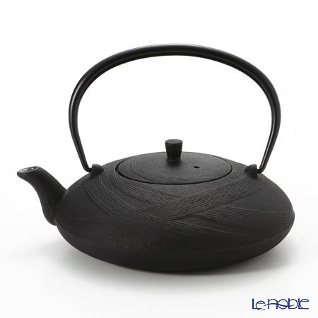 Oigen, Nambu Tetsubin (Nambu Iron Teapot) Flat shape OBI (Band) pattern enamel coated inside teapot 0.6L