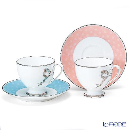 ナルミ フェリシータ! コーヒー碗皿ペア ブルー&ピンク 95586-20861