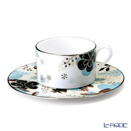 ナルミ フローラルパラダイス ティー・コーヒー碗皿(ベージュ) 51069-21805