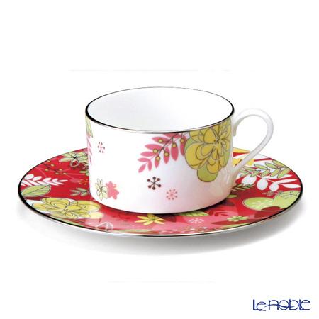 ナルミ フローラルパラダイスティー・コーヒー碗皿(ピンク) 51070-21805