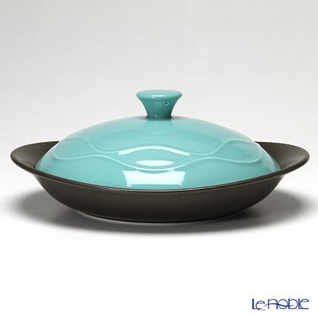 Narumi Cookbowl Flat cookbowl with lid, green 500 cc 41249-33081