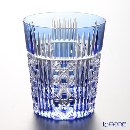カガミクリスタル ロックグラス T557-2471CCB 五本溝に四角籠目紋 230cc