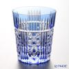 カガミクリスタル ロックグラスT557-2471CCB 五本溝に四角籠目紋 230cc