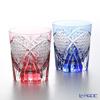 Kagami Crystal pair rock glass 250 cc TPS493-2671AB diagonal cross on the cannabis leaf Crest