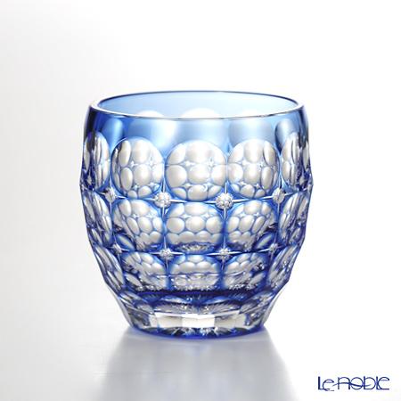 カガミクリスタル 江戸切子 鍋谷聰作 冷酒 T535-2684-CCB 紫陽花 80cc