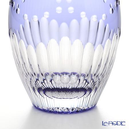 Kagami Crystal / Edo Kiriko Flashed Glass 'Kikka / Chrysanthemum' Purple T727-2685-CMP OF Tumbler 240ml