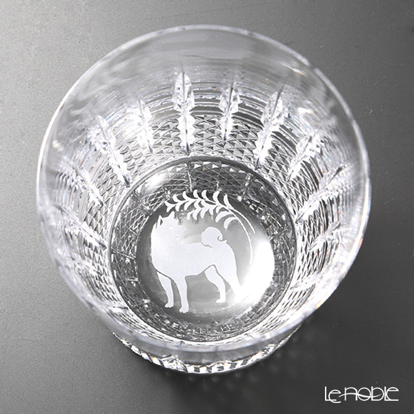 Kagami Crystal / Kiriko Glass 'Zodiac - Dog' [2018] T493-0018 OF Tumbler 250ml (with wooden box)