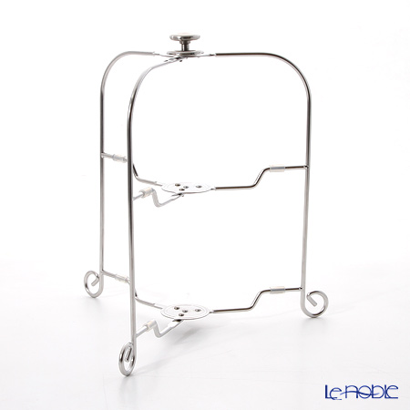 Sakurai 'One Touch - Stainless' 2 Tier Folding Plate Stand H30cm (for 19-24cm Plate)
