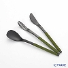 Sakurai 'Sa Aya' Black / Matcha Green Sweets Knife, Spoon, Fork (set of 3)