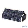 Floret London 'Liberty Print - Kevin' Navy Blue Tissue Case Cover 22.5x11.5xH5cm