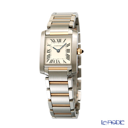 Cartier Tank Francaise Ladies Watch Quartz, small model, 18K yellow gold, steel, W51007Q4